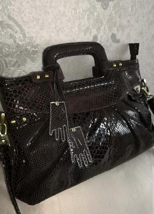 Vip!!! мега стильная кожаная сумка dents, англия