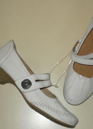 Кожаные туфли jana (яна) 38р. стелька 24,5 см.