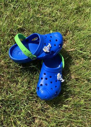 Кроксы - сабо для мальчика от 5-10 лет, синего цвета