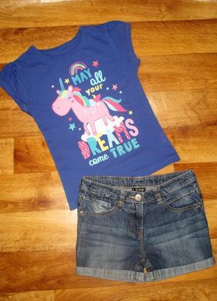 Летний комплект next: футболка и шорты, рост 134-140 см