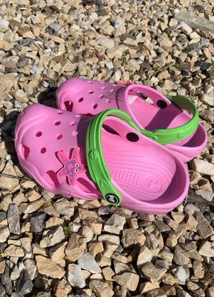 Кроксы - сабо для девочки от 5-10 лет, розвого цвета2 фото