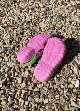 Кроксы - сабо для девочки от 5-10 лет, розвого цвета4 фото
