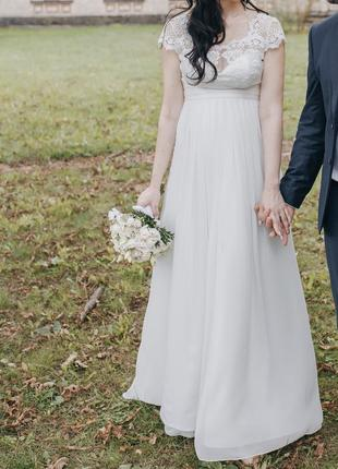 Нереально нежное свадебное платье3 фото