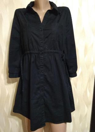 Классное платье туника черного цвета