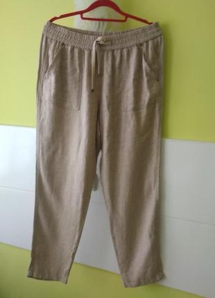 Льняные брюки с примесью котонна от nutmeg