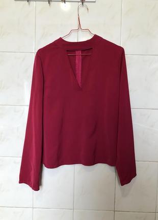 Розовая блуза с чекером zara
