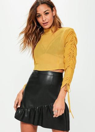 Шифоновоя укороченная блуза