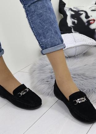 Новые черные женские туфли лоферы мокасины