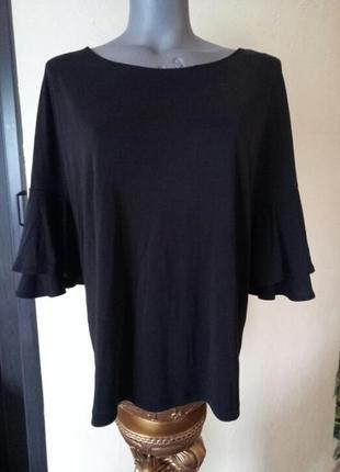 Трикотажная блуза батал