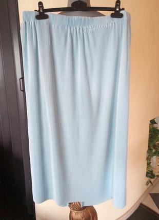 Трендовая юбка-плиссе очень большого размера