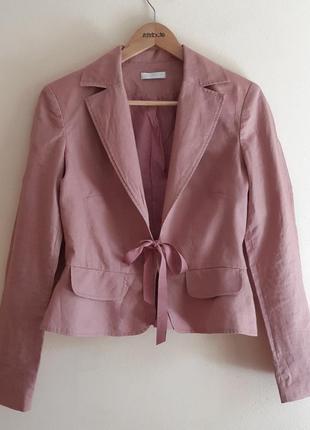 Льняной пиджак льняной жакет