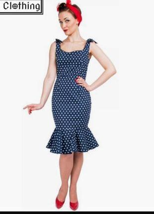 Lindy bop винтажное силуэтное платье длины миди с оборкой по низу в ретро стиле