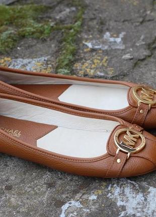 Туфлі мокасини michael kors fulton leather moccasin оригінал