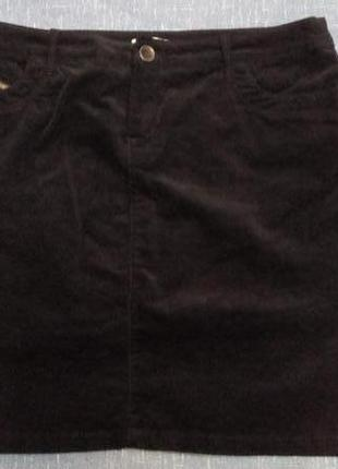 Классная вельветовая юбка, р-р 46-48-50