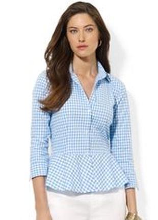 Крутая рубашка с рюшами от ralph lauren оригинал