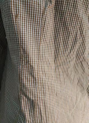 Стильная рубашка в мелкую клетку хлопок7 фото