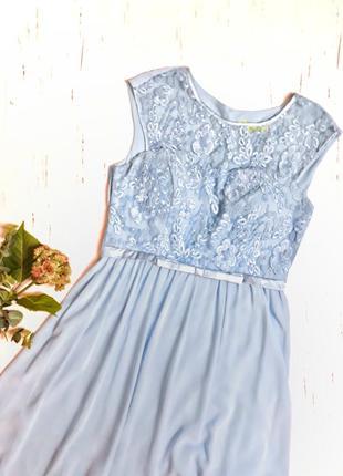 Шикарное нежно голубое платье размер м