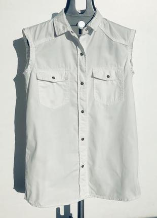 Рубашка с короткий рукавом mango