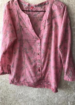 Блуза/ блузка котонова/ топ квітковий принт