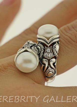 10% скидка - подписчикам! кольцо серебряное с жемчугом размер 18. i 100683 w 18