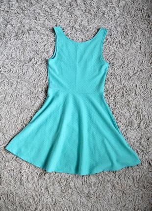 Акция 2=3 платье мини фактурное с открытой спиной лето h&m divided