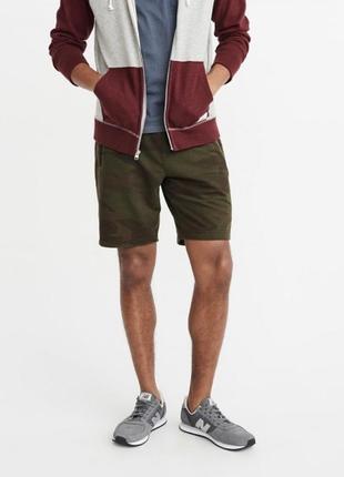 Камуфляжные  шорты abercrombie & fitch