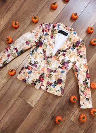 Цветочный пиджак zara