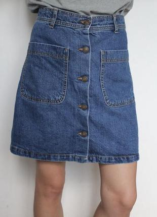 Юбка zara джинсовая новая