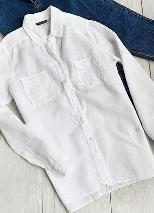 Лляна сорочка ,рубашка massimo dutti