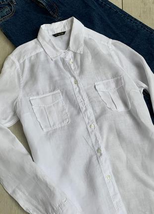 Лляна сорочка ,рубашка massimo dutti2 фото
