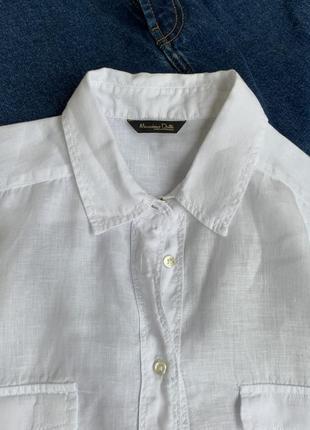 Лляна сорочка ,рубашка massimo dutti4 фото