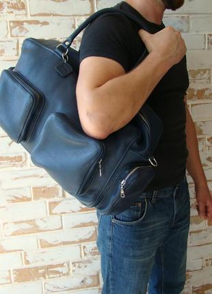 Стильная кожаная сумка. индивидуальный пошив