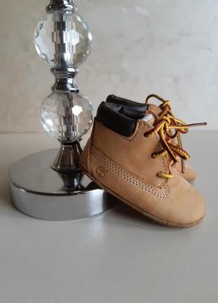 Кожаные ботинки пинетки тимберленд  timberland оригинал