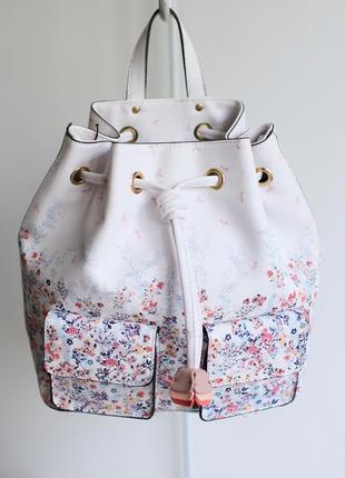 Белый рюкзак с цветочным принтом parfois италия
