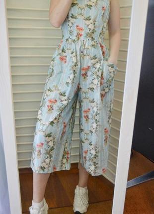 Цветочный комбинезон  с кюлотами apparel сonnection