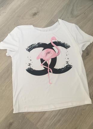 В идеальном состоянии белоснежная овертайм футболка