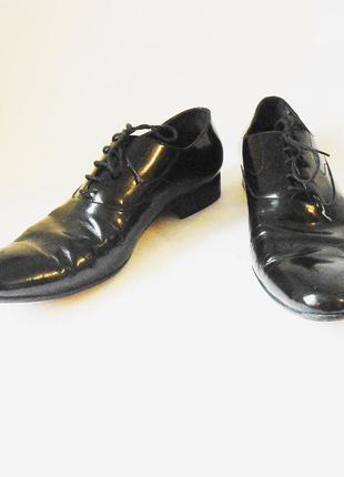 Качество! кожа! стильные лаковые мужские туфли, р.45 код n4501