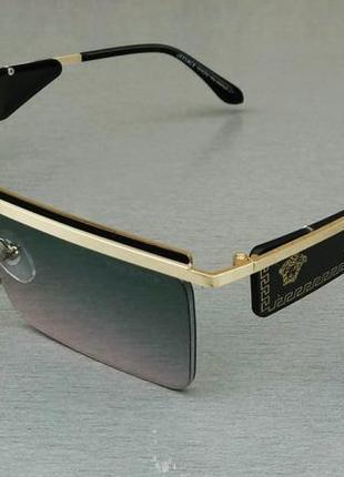 Versace очки женские солнцезащитные узкие с градиентом