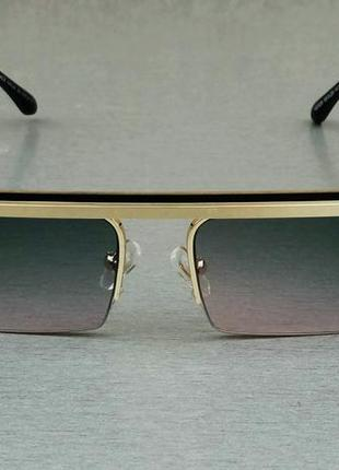 Versace очки женские солнцезащитные узкие с градиентом2 фото