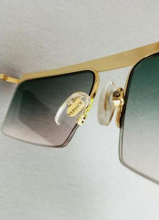 Versace очки женские солнцезащитные узкие с градиентом7 фото