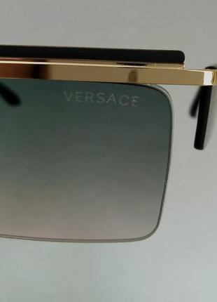 Versace очки женские солнцезащитные узкие с градиентом8 фото
