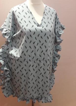 Оригинальное платье с воланами4 фото