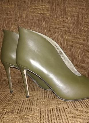 Туфли полузакрытые с открытым носком