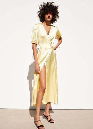 Zara платье лимонное, s, m, l