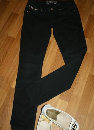 Американские стильные с золотой фурнитурой и вышивкой джинсы скинни robin's jean