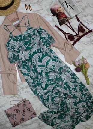 Обнова! сарафан платье макси с воланом бретели накрест качество