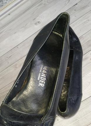 38р кожа! германия salamander,синие, туфли, лоферы4 фото