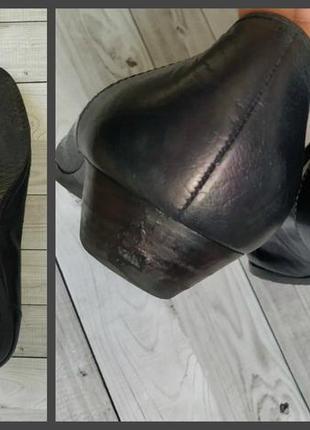 38р кожа! германия salamander,синие, туфли, лоферы6 фото