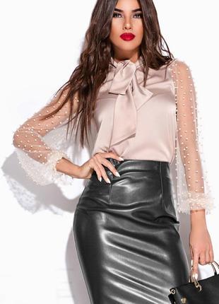 Шелковая блуза  рубашка кофта asos c бантом