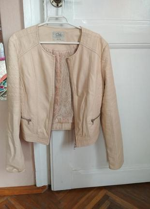 Женская куртка кожанка размер l1 фото